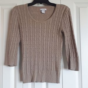 3/4 Length Sleeve Knit Sweater - Size XS